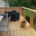 Terrasse en bois sur pilotis Loir et Cher