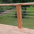 Bardage terrasse en bois inox et verre