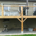 Terrasse en bois sur pilotis sur mesure