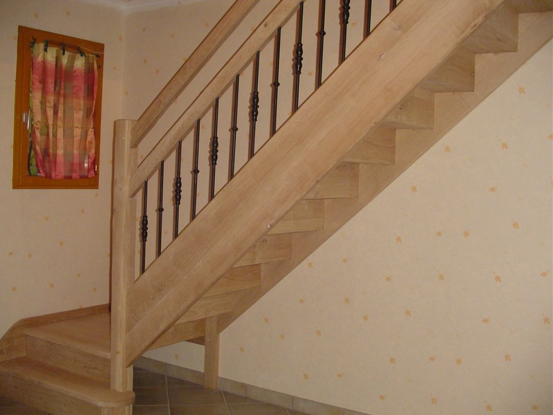 escalier bois fer forg rp91 jornalagora. Black Bedroom Furniture Sets. Home Design Ideas